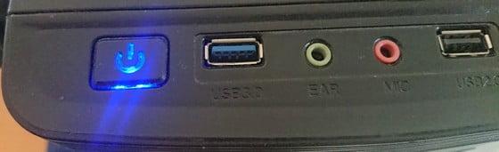vypínač počítača